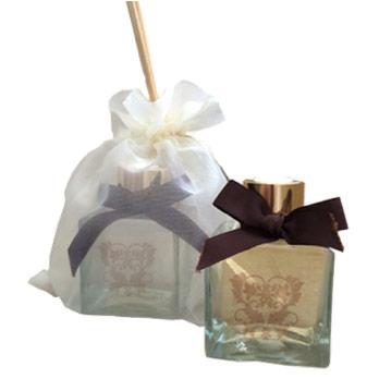 brindes e lembrancinhas aromatizador vidro cube