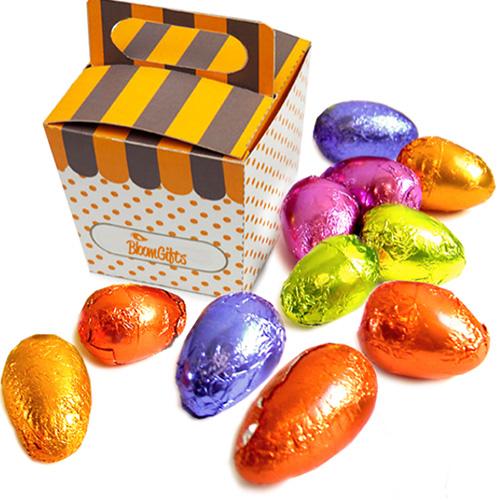 brindes e lembrancinhas caixa com ovos de chocolate