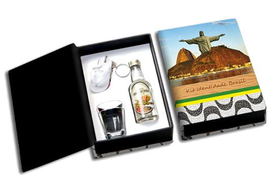 brindes e lembrancinhas kit cachaça brasil